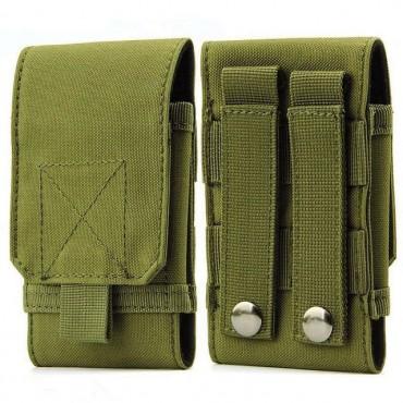 Тактически калъф за смартфон - военно зелен