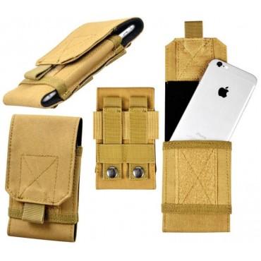 Тактически калъф за смартфон - пясъчно кафяв (Khaki)